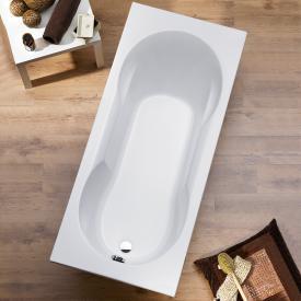 Ottofond Viva Rechteck-Badewanne mit Duschzone, Einbau mit Fußgestell