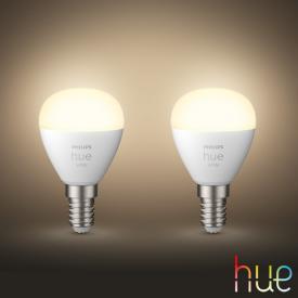 PHILIPS Hue White LED E14 Luster, 5,7 Watt Doppelpack
