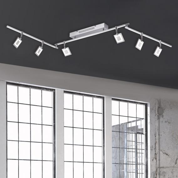 Paul Neuhaus Milan LED Deckenleuchte mit Dimmer, 6-flammig