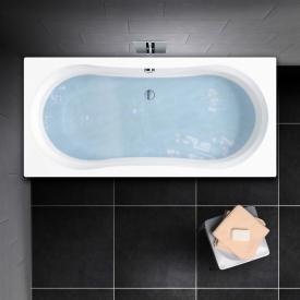 PREMIUM 100 Duo Rechteck-Badewanne, Einbau Länge: 180 cm, Breite: 80 cm, Innentiefe: 43 cm