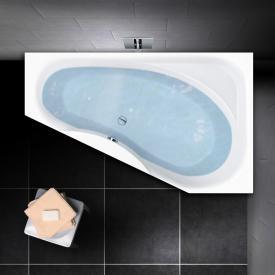 PREMIUM 100 Eck-Badewanne mit Ablagefläche, Einbau Länge: 175 cm, Breite: 110 cm, Innentiefe 46 cm