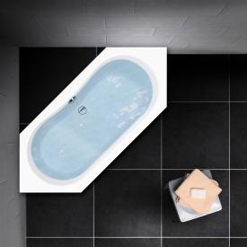 PREMIUM 100 Sechseck-Badewanne Länge: 180 cm, Innentiefe 44,5 cm, Breite: 80 cm, Innentiefe 44,5 cm