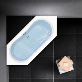 PREMIUM 100 Sechseck-Badewanne Länge: 190 cm, Breite: 80 cm, Innentiefe 44,5 cm