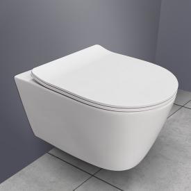 PREMIUM 100 Wand-Tiefspül-WC, spülrandlos, oval