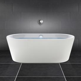 PREMIUM 200 freistehende Oval-Badewanne Länge: 180 cm, Breite: 80 cm weiß