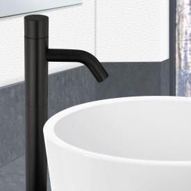 PREMIUM 500 Elektronische Waschtischarmatur mit Temperaturregler schwarz, batteriebetrieben