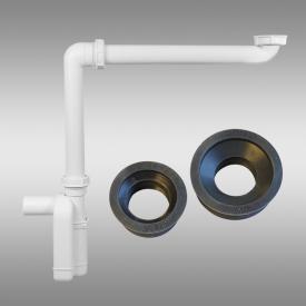PREMIUM Universal Raumspar-Siphon mit Siphon-Anschluss-Manschetten