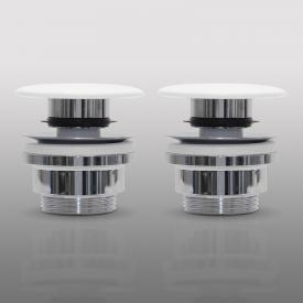 PREMIUM Universal Zubehörpaket E für Doppelwaschtische mit Überlauf, keramische Abdeckung