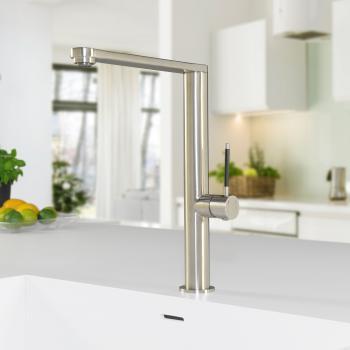 PREMIUM 300 Steel Einhebel-Küchenarmatur