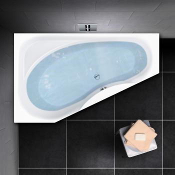 PREMIUM Raumspar-Badewanne mit Ablagefläche Länge: 175 cm, Breite: 110 cm