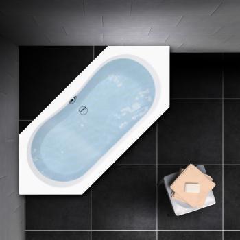 PREMIUM Sechseck-Badewanne Länge: 200 cm, Breite: 90 cm
