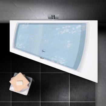 PREMIUM Trapez-Badewanne Länge: 170 cm, Breite: 110 cm