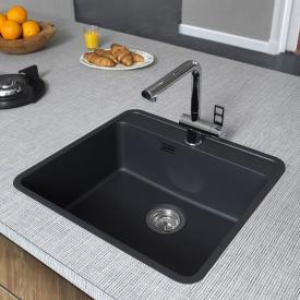 Reginox Ohio OKG Küchenspüle mit Hahnloch mitternachtschwarz