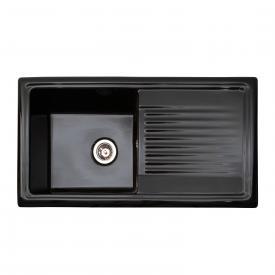 Reginox RL 304 Küchenspüle mit Abtropffläche schwarz