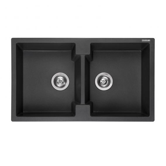Reginox Amsterdam 20 Küchenspüle mit Doppelbecken schwarz metallic