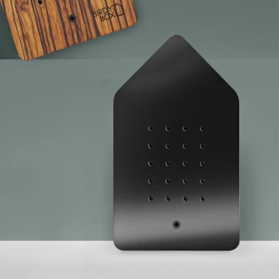 Relaxound Birdybox Front schwarz matt / Korpus weiß