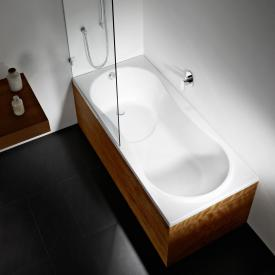Repabad Dublin Rechteck-Badewanne mit Duschzone, Einbau weiß
