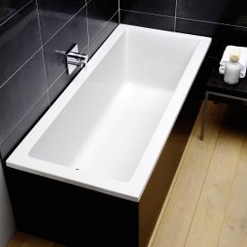Repabad Genf Mono Rechteck-Badewanne, Einbau weiß