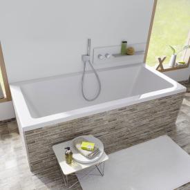 Repabad Livorno Rechteck-Badewanne, Einbau weiß
