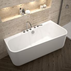 Repabad Seed F Vorwand-Badewanne mit Verkleidung weiß matt, mit Füllfunktion über Überlauf