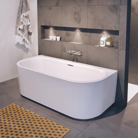 Riho Desire back2wall Vorwand-Badewanne mit Verkleidung weiß, ohne Füllfunktion