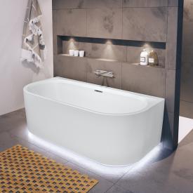 Riho Desire back2wall Vorwand-Badewanne mit Verkleidung und LED-Beleuchtung weiß matt, ohne Füllfunktion