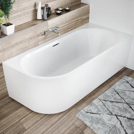 Riho Desire Corner Eck-Badewanne mit Verkleidung weiß, ohne Füllfunktion