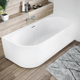Riho Desire Corner Eck-Whirlwanne mit Verkleidung weiß matt, ohne Füllfunktion