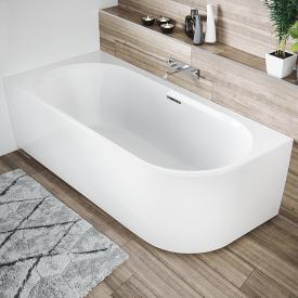 Riho Desire Corner Raumspar-Badewanne mit Verkleidung weiß, ohne Füllfunktion