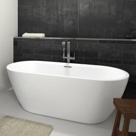 Riho Inspire Freistehende Oval-Badewanne weiß matt, ohne Füllfunktion