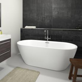 Riho Inspire Freistehende Oval Badewanne weiß, ohne Füllfunktion