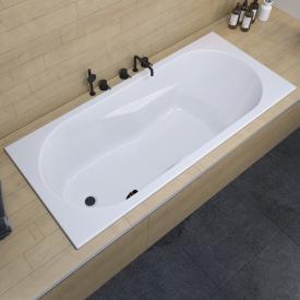 Riho Lazy Rechteck-Badewanne mit seitichem Überlauf, Einbau