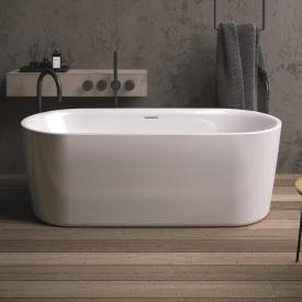 Riho Modesty Freistehende Oval Badewanne weiß, ohne Füllfunktion