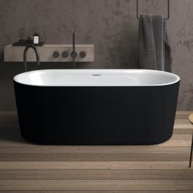 Riho Modesty Freistehende Oval-Badewanne weiß/schwarz matt, ohne Füllfunktion