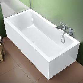 Riho Rethink Cubic Rechteck-Badewanne mit Verkleidung weiß, ohne Füllfunktion