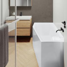 Riho Rethink Space Raumspar-Badewanne mit Verkleidung weiß, ohne Füllfunktion