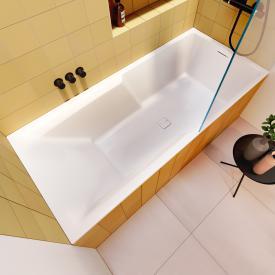 Riho Still Shower Rechteck-Badewanne mit Duschzone, Einbau ohne Füllfunktion
