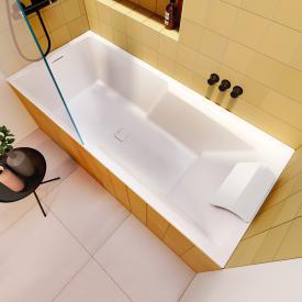 Riho Still Shower Rechteck-Badewanne  mit Duschzone und LED-Beleuchtung ohne Füllfunktion