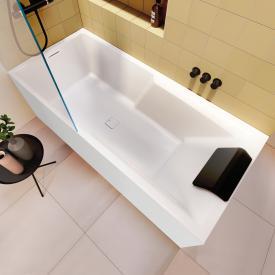 Riho Still Shower Rechteck-Badewanne mit Duschzone und Verkleidung ohne Füllfunktion