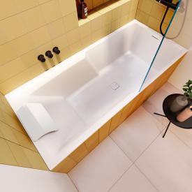 Riho Still Shower Rechteck-Badewanne mit LED-Beleuchtung ohne Füllfunktion
