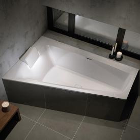 Riho Still Smart Eck-Badewanne mit Kopfstütze und LED-Beleuchtung, Einbau mit Füllfunktion