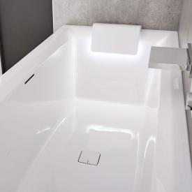 Riho Still Square Rechteck-Badewanne mit LED-Beleuchtung und 2 Kopfstützen ohne Füllfunktion