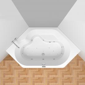 Riho Winnipeg Easypool Sechseck-Whirlpool mit elektronischer Bedienung