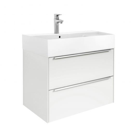 Roca Inspira Waschtisch mit Waschtischunterschrank mit 2 Auszügen Front weiß glanz / Korpus weiß glanz