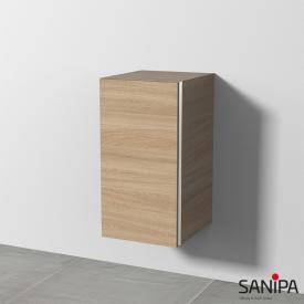 Sanipa 3way Beistellschrank mit 1 Tür Front ulme impresso / Korpus ulme impresso, mit Griffleiste