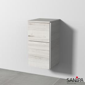 Sanipa 3way Beistellschrank mit 2 Auszügen Front linde hell/ Korpus linde hell, mit Griffleiste