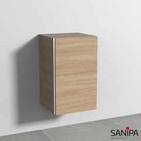 Sanipa 3way Beistellschrank mit 1 Tür Front ulme impresso / Korpus ulme impresso, mit Griffmulde
