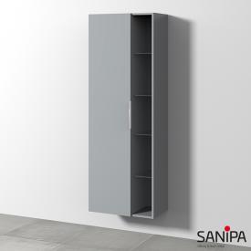 Sanipa 3way Hochschrank mit 1 Tür und Seitenregal Front steingrau/ Korpus steingrau mit Griff