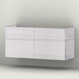 Sanipa 3way Waschtischunterschrank mit 4 Auszügen für Doppelwaschtisch Smyle Front linde hell/ Korpus linde hell