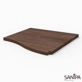 Sanipa CantoBay Abdeckplatte klein für Anbauschrank geschwungen eiche santana